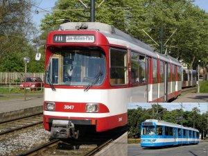 Foto-Serie / Dia-Show - GT8S - Gelenktriebwagen in Düsseldorf und Krakow [Krakau] (Polen)
