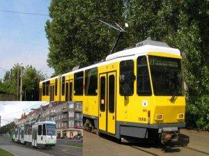 Foto-Serie / Dia-Show - KT4Dt - Gelenktriebwagen in Berlin und Szczecin [Stettin] (Polen)