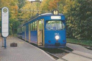 Postkarte - GT6-ER Gelenktriebwagen Kassel TW-354