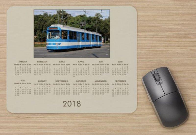 Mousepad mit Straßenbahnmotiv - Kalender 2018