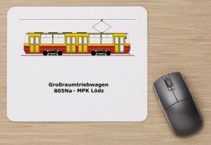 Mousepad mit Straßenbahnmotiv - 805Na Łódź [Lodsch] (Polen)