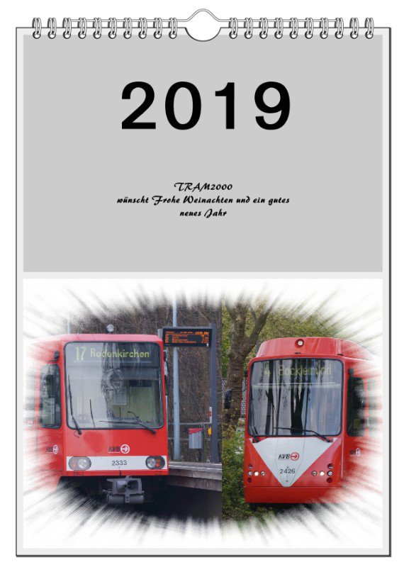 Straßenbahn-Kalender 2019