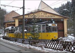 Postkarte - Kirnitzschtalbahn TW-2 mit BW-25