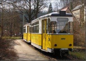Postkarte - Kirnitzschtalbahn BW-26 und BW-25