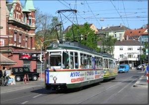 Postkarte - Augsburg - GT4 TW-419 mit BTW-469