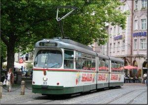 Postkarte Augsburg - GT8 Gelenktriebwagen 803