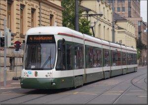 Postkarte Augsburg - FLEXITY Niederflur-Gelenktriebwagen 891