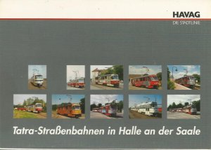 Postkarten-Serie HAVAG Halle-Saale - T4D Tatrawagen