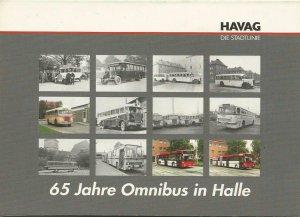 Postkarten-Serie HAVAG Halle-Saale - 65 Jahre Omnibus