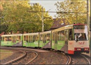Postkarte Straßenbahn Duisburg - GT10NC-DU TW-1042