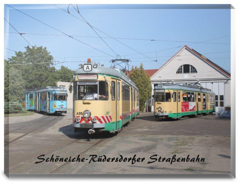 Glasfoto - Straßenbahn Schöneiche / Rüdersdorf