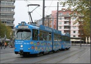 Postkarte Braunschweiger Straßenbahn - GT6 Gelenktriebwagen 7757