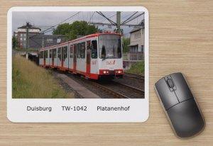 Mousepad mit Straßenbahnmotiv - GT10NC-DU Duisburg