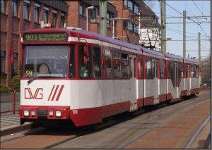 Postkarte Straßenbahn Duisburg - GT10N TW-1000
