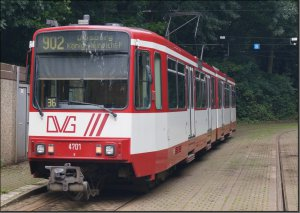 Postkarte Straßenbahn Duisburg - B80C TW-4701