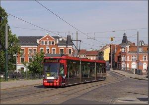 Postkarte Straßenbahn Brandenburg - MGT6D TW-105