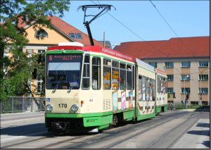 Postkarte Straßenbahn Brandenburg - KTNF6 TW-170