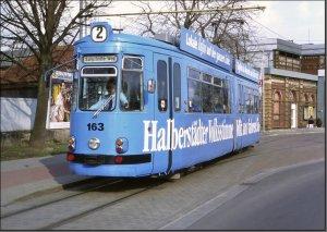 Postkarte Straßenbahn Halberstadt - GT4 TW-163