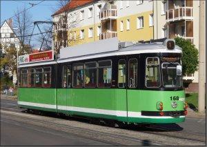 Postkarte Straßenbahn Halberstadt - GT4 TW-168