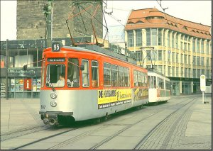 Postkarte Halle (Saale) - GT4 TW-887