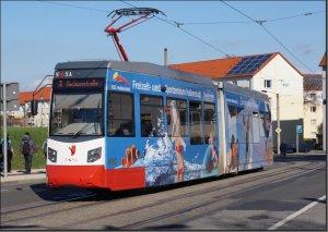 Postkarte Straßenbahn Halberstadt - NGTW6-H TW-3