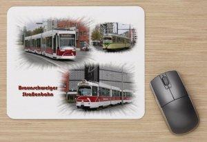 Mousepad mit Straßenbahnmotiv - Braunschweig