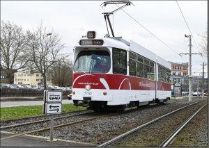 Postkarte Braunschweiger Straßenbahn - GT6 Gelenktriebwagen 7752