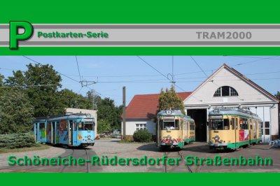 Postkarten-Serie Schöneiche-Rüdersdorfer Straßenbahn