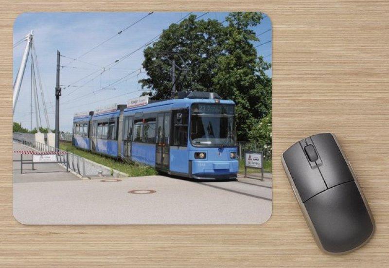 Mousepad mit Straßenbahnmotiv - München