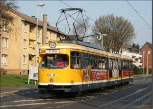 Postkarte Krefeld - GT8 Gelenktriebwagen 809