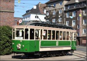 Postkarte Essen - Historischer Triebwagen 144