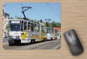 Mousepad mit Straßenbahnmotiv - Spatzenbahn Gera