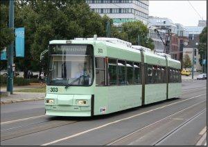 Postkarte Frankfurt Oder - GT6M Triebwagen 303