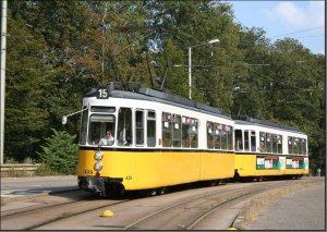 Postkarte Stuttgart - GT4 Gelenktriebwagen 439