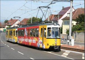 Postkarte Stuttgart - GT4 Gelenktriebwagen 403