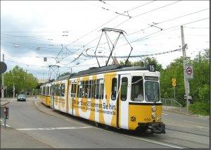 Postkarte Stuttgart - GT4 Gelenktriebwagen 450