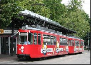 Postkarte Augsburg - GT4 Gelenktriebwagen 420