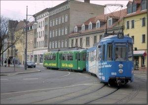 Postkarte Halle (Saale) - GT4 TW-866