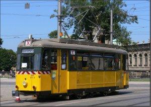 Postkarte Dresden - Arbeitstriebwagen 201-011