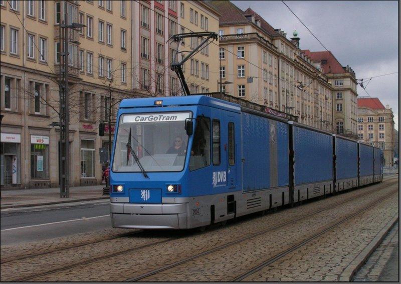 Postkarte Dresden - Cargo-Triebwagen 2004