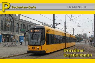 Postkarten-Serie - Dresdner Straßenbahn mit 17 Motivkarten