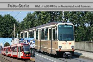 Foto-Serie - N8C - Gelenktriebwagen in Dortmund und Gdansk [Danzig] (Polen)