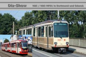 Dia-Show - N8C - Gelenktriebwagen in Dortmund und Gdansk [Danzig] (Polen)