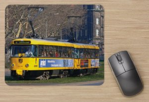 Mousepad mit Straßenbahnmotiv - T4D-MT Dresden TW-224-229