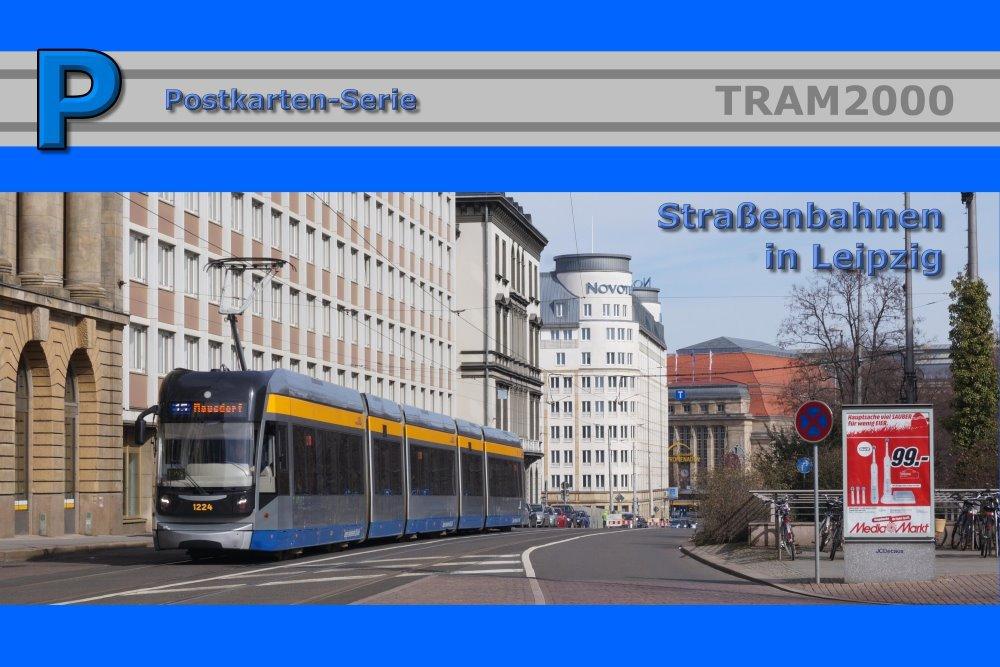 Postkarten-Serie - Leipziger Straßenbahn mit 18 Motivkarten