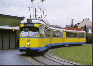 Postkarte Essen - GT8 Gelenktriebwagen 1804