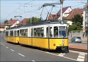 Postkarte Stuttgart - GT4 Gelenktriebwagen 416