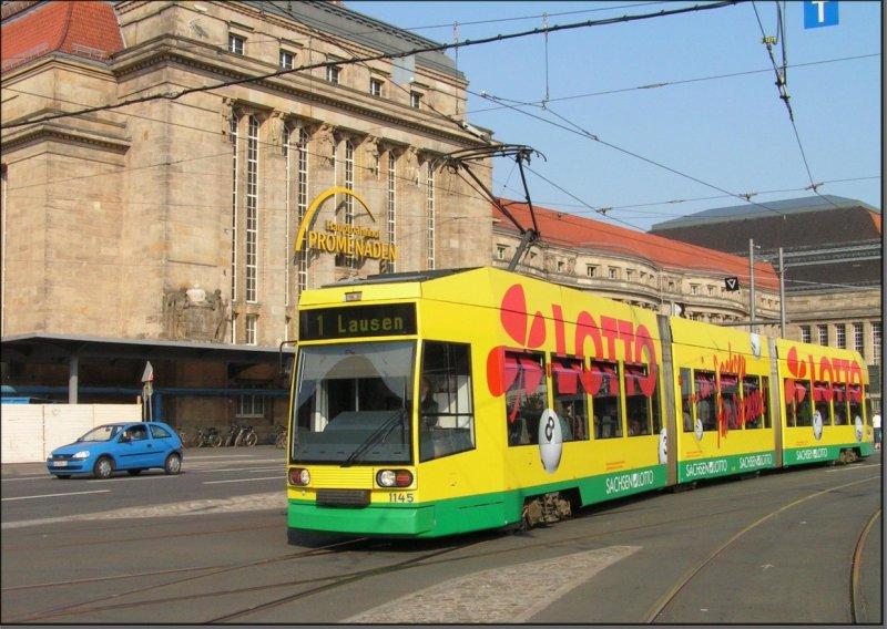 Postkarte Leipzig - NGT8 TW-1145