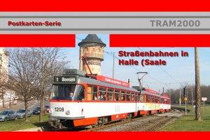 Postkarten-Serie - Hallesche Straßenbahn mit 17 Motivkarten