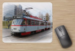 Mousepad mit Straßenbahnmotiv - T4D-C Halle-Saale TW-1161